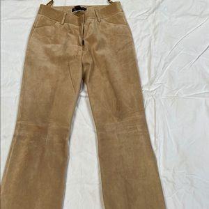 Tan Suede Pants